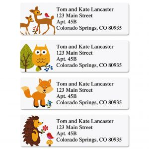 Woodland Classic Address Labels  (4 Designs)