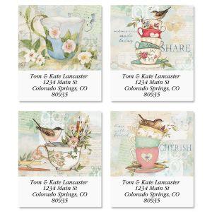 Teacups Select Address Labels  (4 Designs)