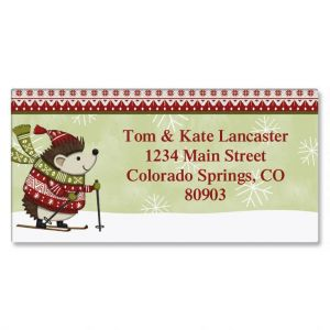 Nordic Charm Border Address Labels  (6 Designs)