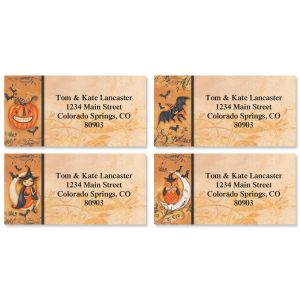 Filigree Fright Border Address Labels  (4 Designs)