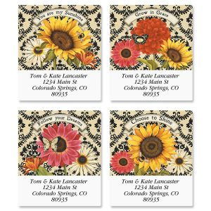 French Sunflower Select Address Labels  (4 Designs)