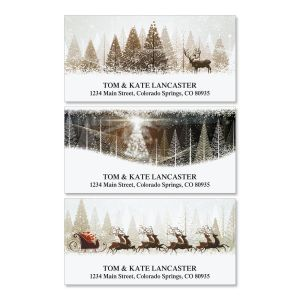 Winter Banners Deluxe Address Labels  (3 Designs)