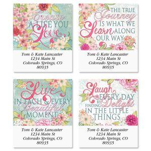 Vintage Floral Select Address Labels  (4 Designs)