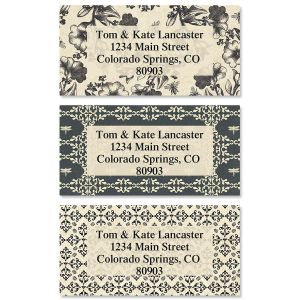Country Patterns Border Address Labels  (3 Designs)