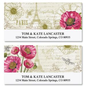 Parisian Poppies Deluxe Return Address Labels (2 Designs)