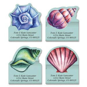 Ocean Treasure Diecut Address Labels  (4 Designs)