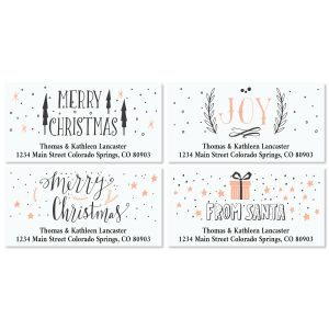 Girly Christmas Deluxe Return Address Labels (4 Designs)