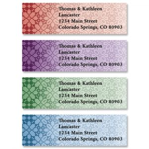 Christmas Knit Classic Return Address Labels (4 Designs)