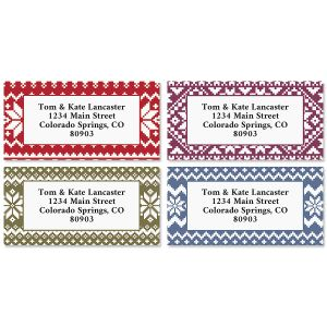 Sweater Weather Border Return Address Labels (4 Designs)