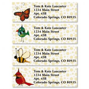 Backyard Wings Classic Return Address Labels (4 Designs)