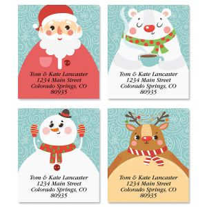 Christmas Faces Select Return Address Labels (4 Designs)