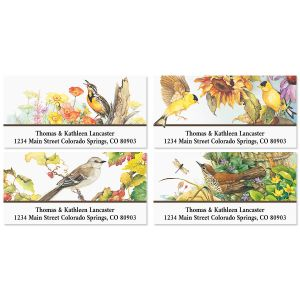 Songbirds Deluxe Return Address Labels (4 Designs)