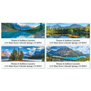 Beautiful Lakes Deluxe Return Address Labels (4 Designs)