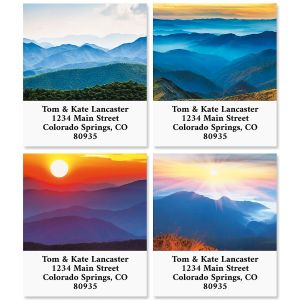 Above the Mountains Select Return Address Labels (4 Designs)