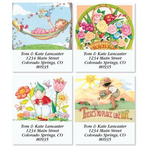 Days in the Garden Select Return Address Labels (4 Designs)