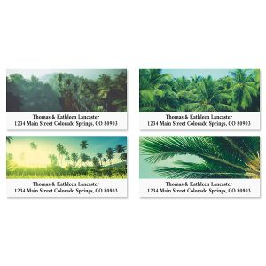 Palm Jungle Deluxe Return Address Labels (4 Designs)