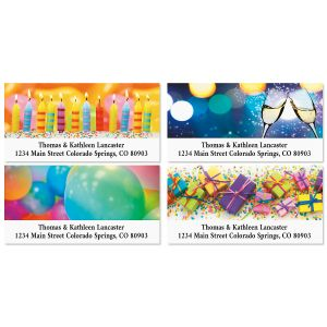 Celebrations Birthday Deluxe Return Address Labels (4 Designs)