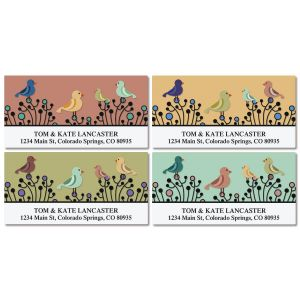 Bird Garden Deluxe Address Labels  (4 Designs)