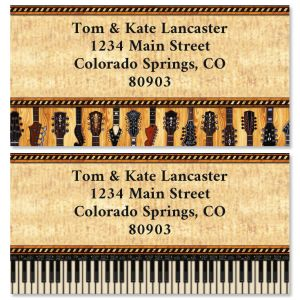 Encore Border Return Address Labels (2 Designs)