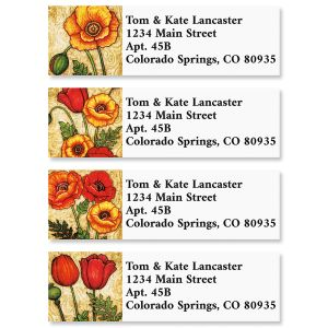 In Bloom Classic Return Address Labels (4 Designs)