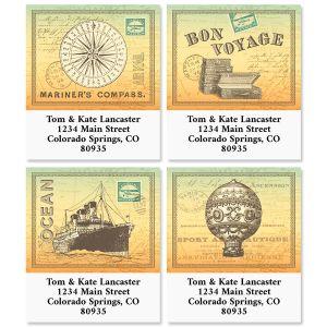 Vintage Traveler Select Return Address Labels (4 Designs)
