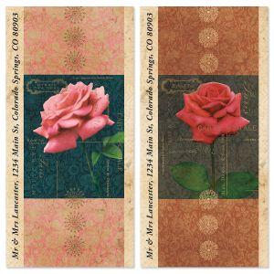 Postal Rose Oversized Return Address Labels (2 Designs)
