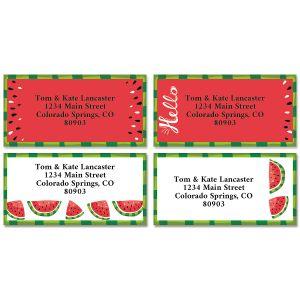 Watermelon Summer Border Return Address Labels (4 Designs)