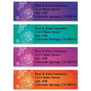 Fine Line Florals Classic Return Address Labels (4 Designs)