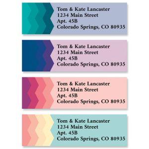 Zig Zag Classic Return Address Labels (4 Designs)
