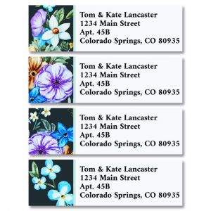 Night Bloom Classic Return Address Labels (4 Designs)