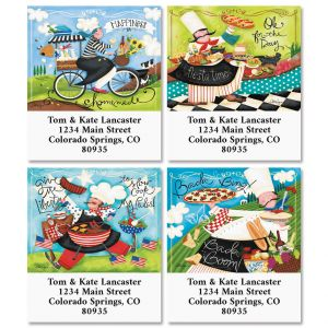 Happy Chef Select Return Address Labels (4 Designs)