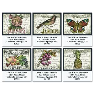 Vintage Charm Select Return Address Labels (6 Designs)