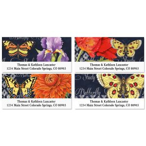 Butterfly Blues Deluxe Return Address Labels (4 Designs)