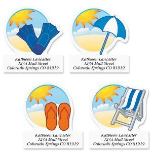 Beach Dream Diecut Return Address Labels (4 Designs)