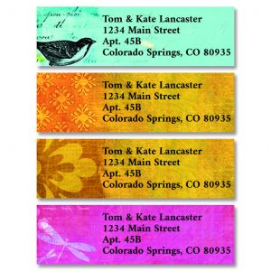 Fond of You Classic Return Address Labels (4 Designs)