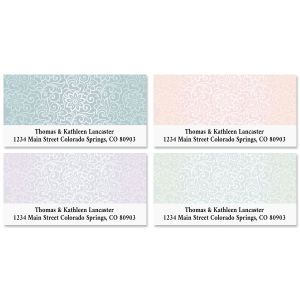 Royal Floral Deluxe Address Labels