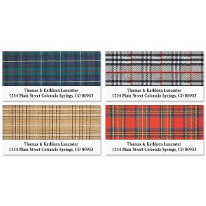 Plaid Deluxe Address Labels