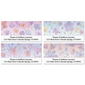 Delightful Flowers Deluxe Address Labels