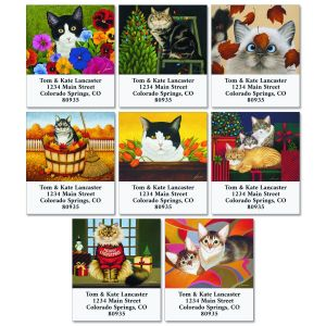 All Occasions Cat Select Return Address Labels (12 Designs)