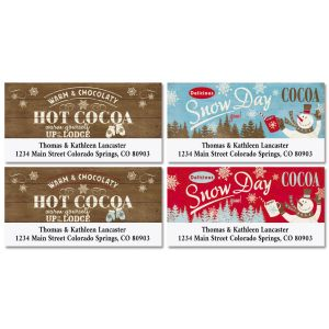 Hot Cocoa Deluxe Christmas Address Labels (4 Designs)