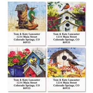 Country Birdhouses Select Return Address Labels (4 Designs)