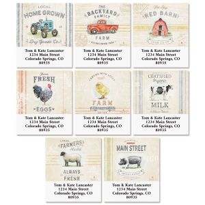 Farmhouse Select Return Address Labels (8 Designs)