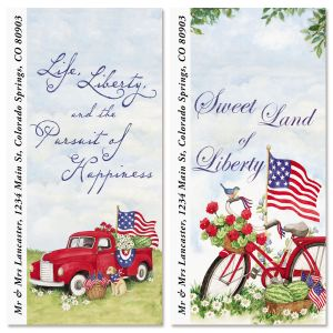 American Heritage Oversized Return Address Labels (2 Designs)