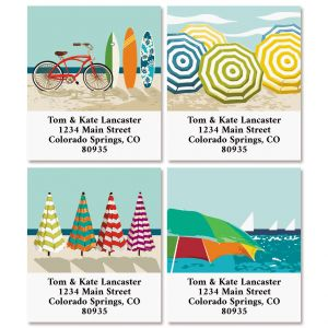 At the Beach Select Return Address Labels (4 Designs)