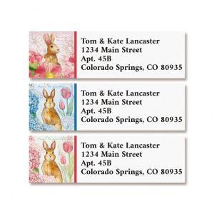 Bunnies in the Garden Classic Return Address Labels (3 Designs)