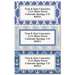 Sail Away Border Return Address Labels (3 Designs)