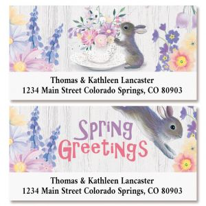 Bunny Greetings Deluxe Return Address Labels (2 Designs)