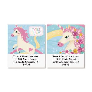 Happy Unicorn Select Return Address Labels (2 Designs)