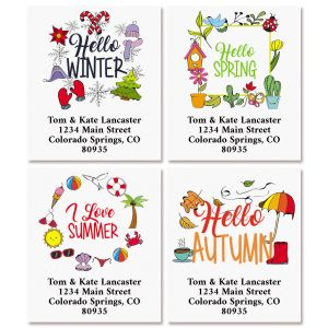 Four Seasons Select Return Address labels (4 Designs)