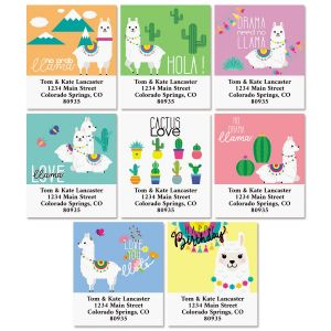 Llama Select Return Address Labels (8 Designs)